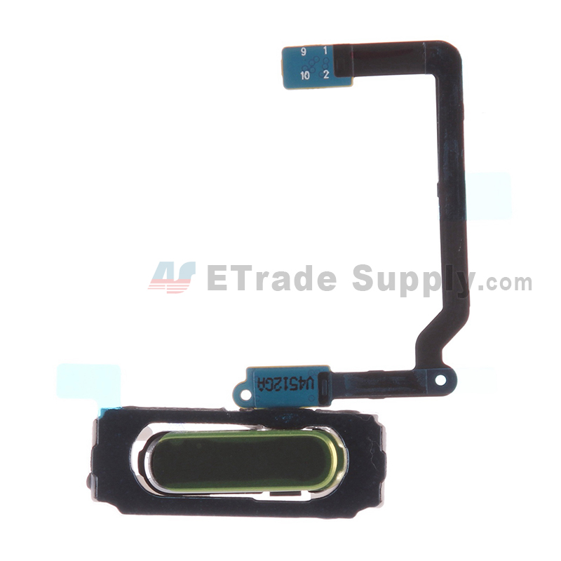 For Samsung Galaxy S5 SM-G900/G900A/G900V/G900P/G900R4/G900T/G900F Home Button with Flex Cable Ribbon Replacement - Black - Grade S+