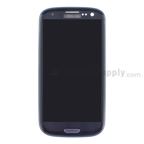 For Samsung Galaxy S III (S3) GT-I9300 LCD Screen and Digitizer Assembly with Front Housing Replacement - Sapphire - Grade S+