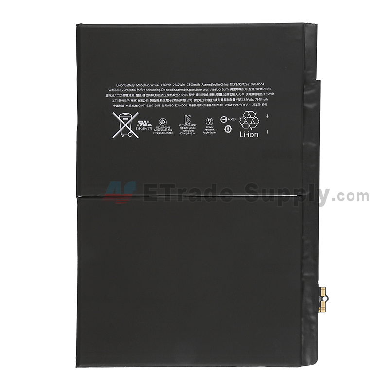 For Apple iPad Air 2 Battery Replacement - Grade S+