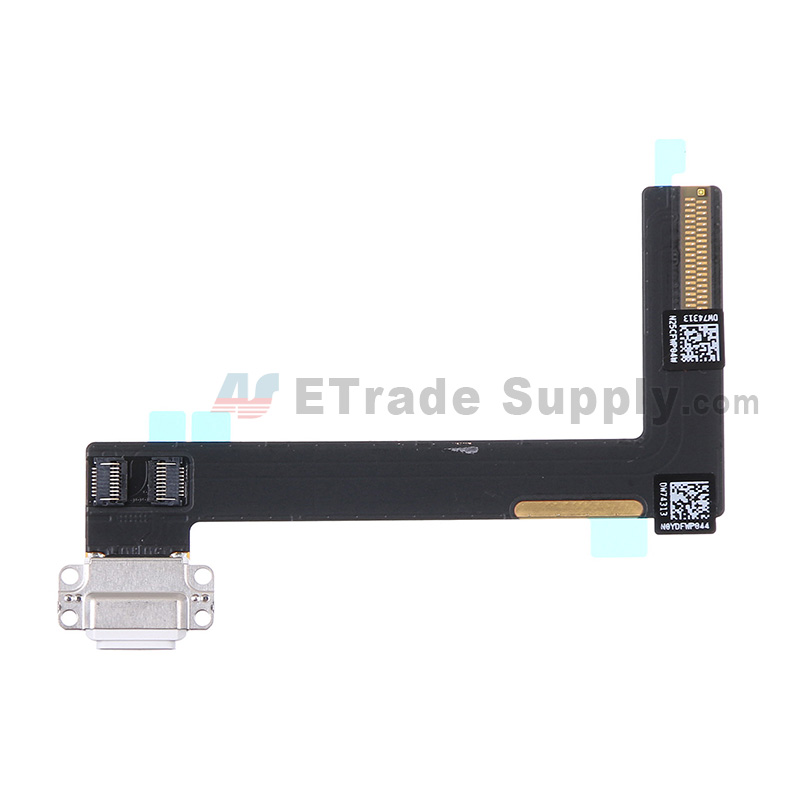 For Apple iPad Air 2 Charging Port Flex Cable Ribbon Replacement - White - Grade S+