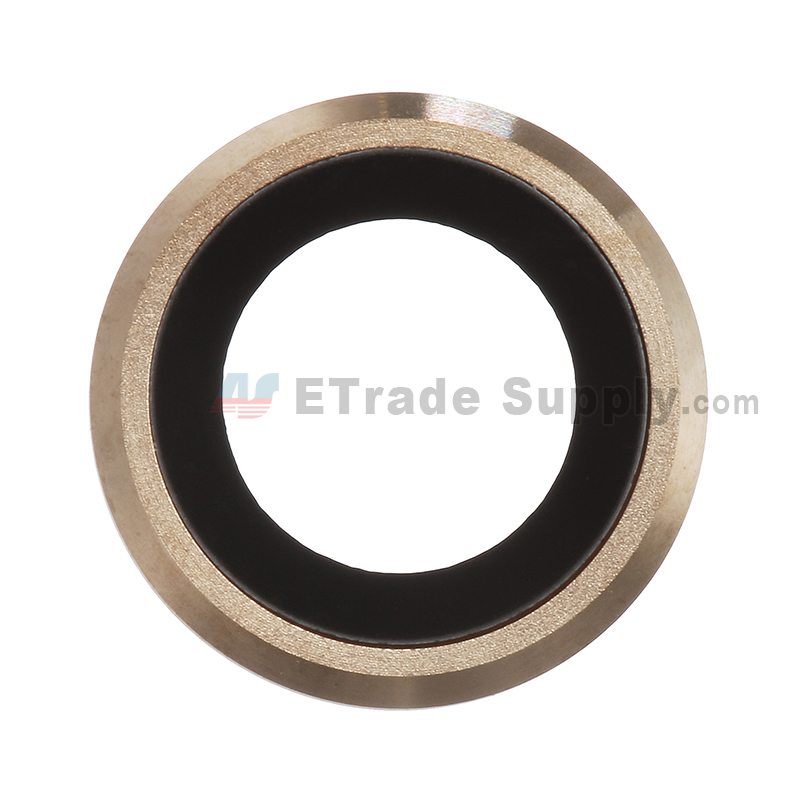 For Apple iPhone 6 Camera Lens with Bezel Replacement - Gold - Grade S+