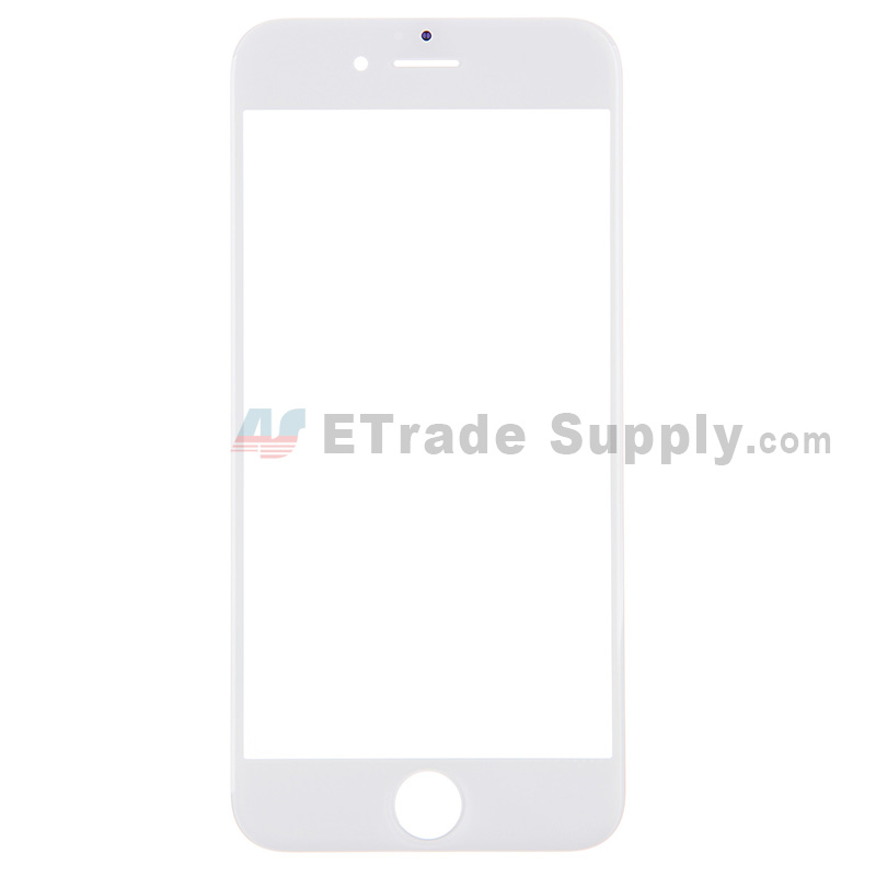 For Apple iPhone 6 Glass Lens Replacement - White - Grade R
