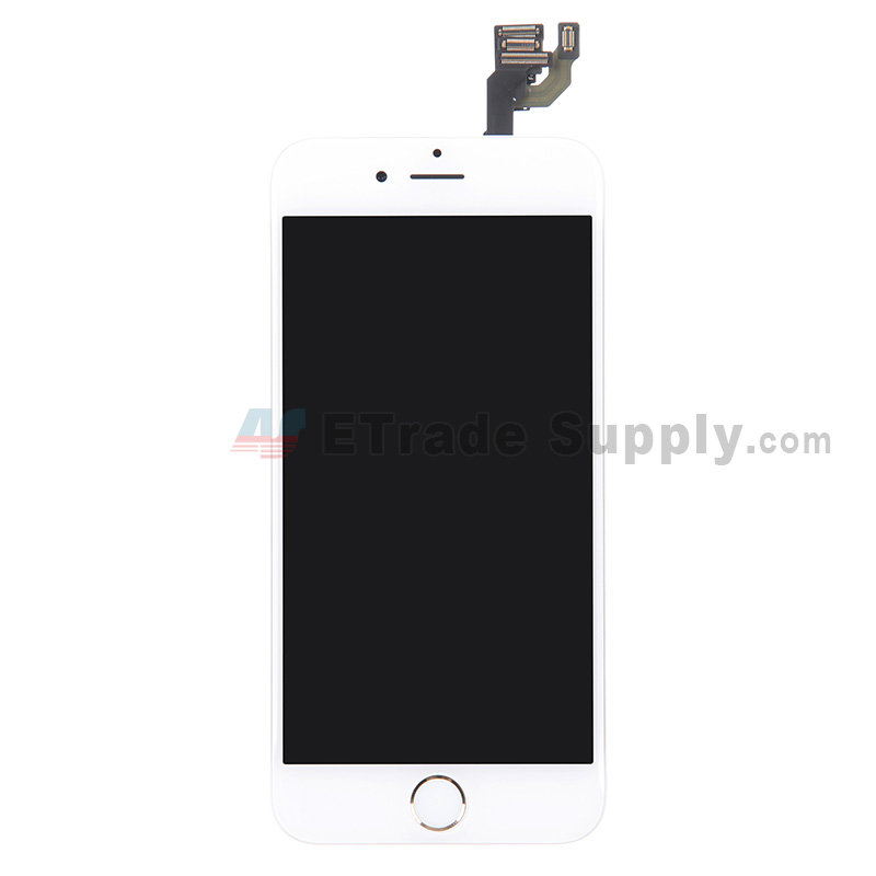 For Apple iPhone 6 LCD Screen and Digitizer Assembly with Frame and Home Button Replacement - Gold - Grade S+