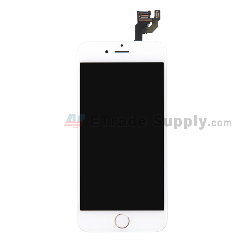 For Apple iPhone 6 LCD Screen and Digitizer Assembly with Frame and Home Button Replacement - Gold - Grade S