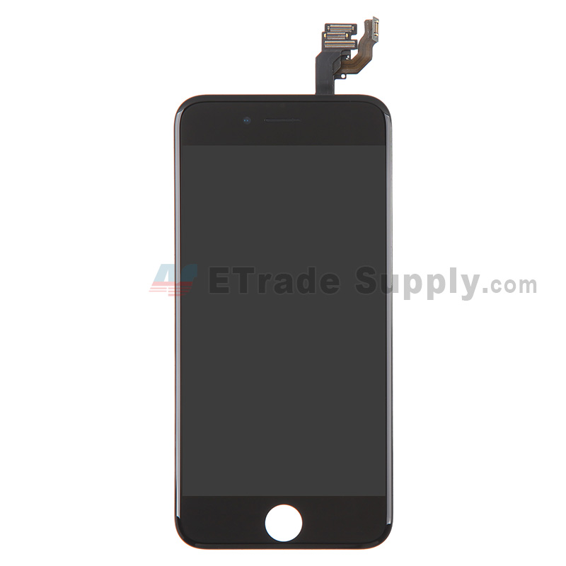 For Apple iPhone 6 LCD Screen and Digitizer Assembly with Frame and Small Parts Replacement (without Home Button) - Black - Grade S+
