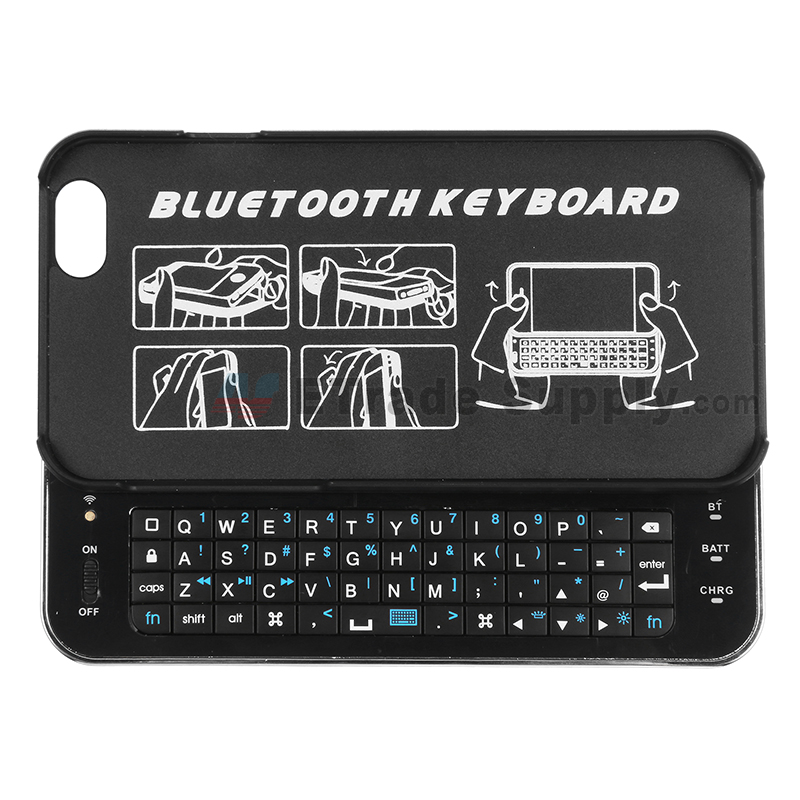 For Apple iPhone 6 Slide Bluetooth Keyboard - Black - Grade R