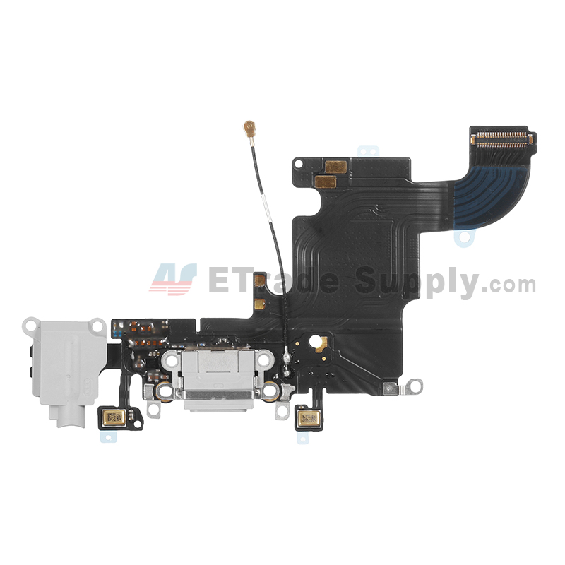 For Apple iPhone 6S Charging Port Flex Cable Ribbon Replacement - Light Gray - Grade S+