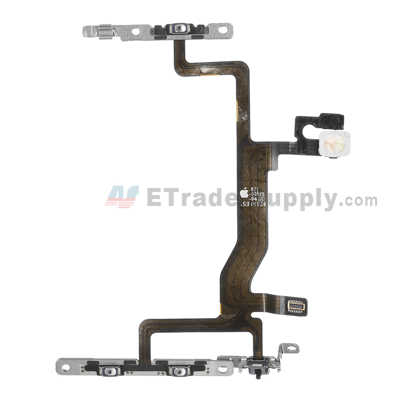 For Apple iPhone 6S Power Button and Volume Button Flex Cable Ribbon Assembly Replacement - Grade S+