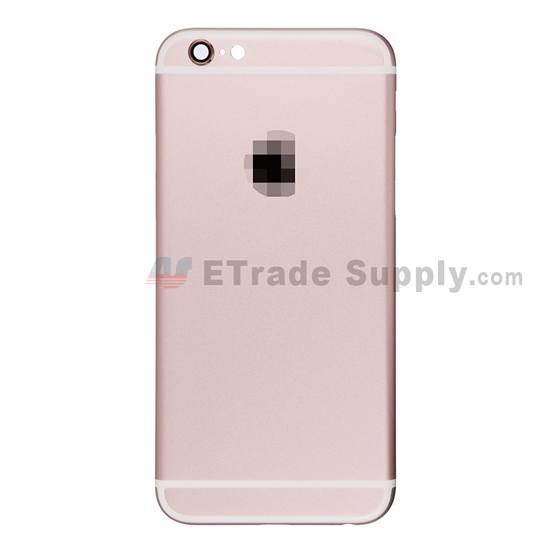 For Apple iPhone 6S Rear Housing with Apple Logo Replacement - Rose Gold - Without Words - Grade S+