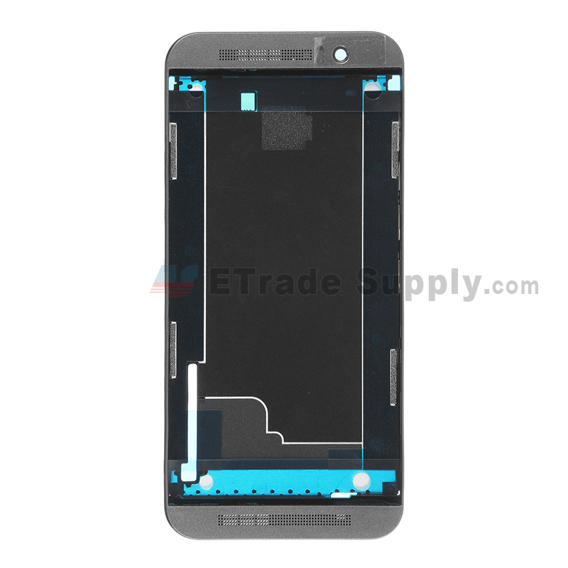 For HTC One M9 Front Housing Replacement - Gray - Grade S+