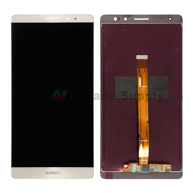 For Huawei Mate 8 LCD Screen and Digitizer Assembly Replacement - Gold - With Logo - Grade S+