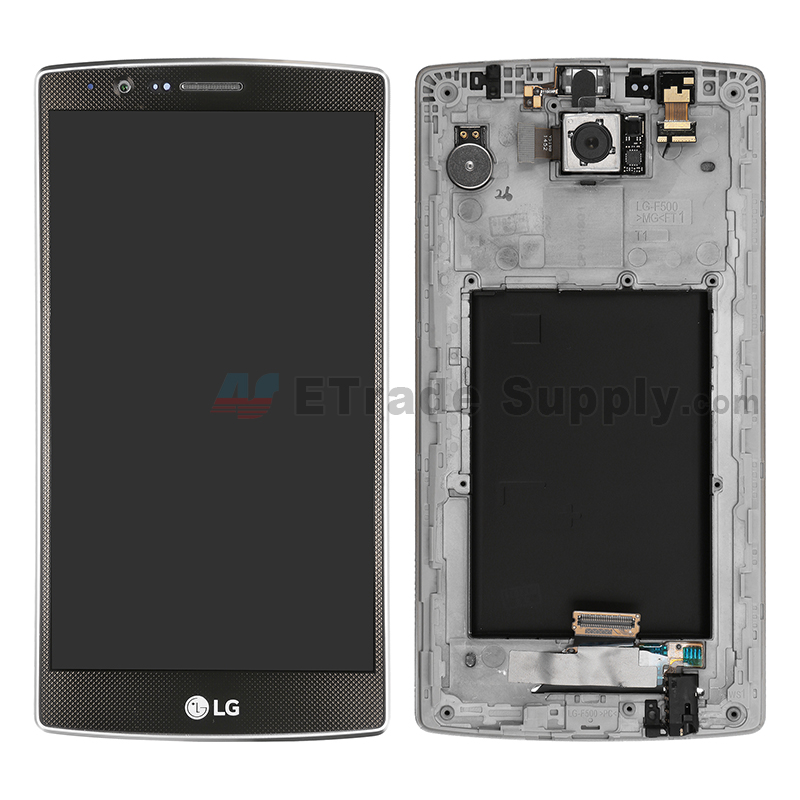 For LG G4 H815/H810/F500/H812/H811/LS991 LCD Screen and Digitizer Assembly with Front Housing Replacement - Black - With Logo - Grade S+
