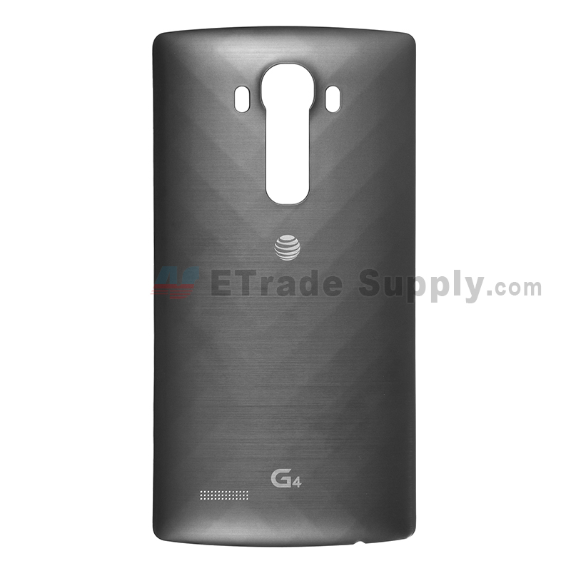 For LG G4 H810 Battery Door  Replacement - Black - With Logo - Grade S+