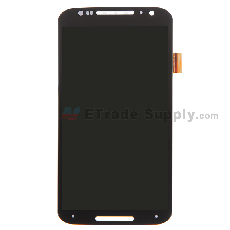 For Motorola Moto X (2nd Gen.) XT1096 LCD Screen and Digitizer Assembly Replacement - Black - Without Any Logo - Grade S+