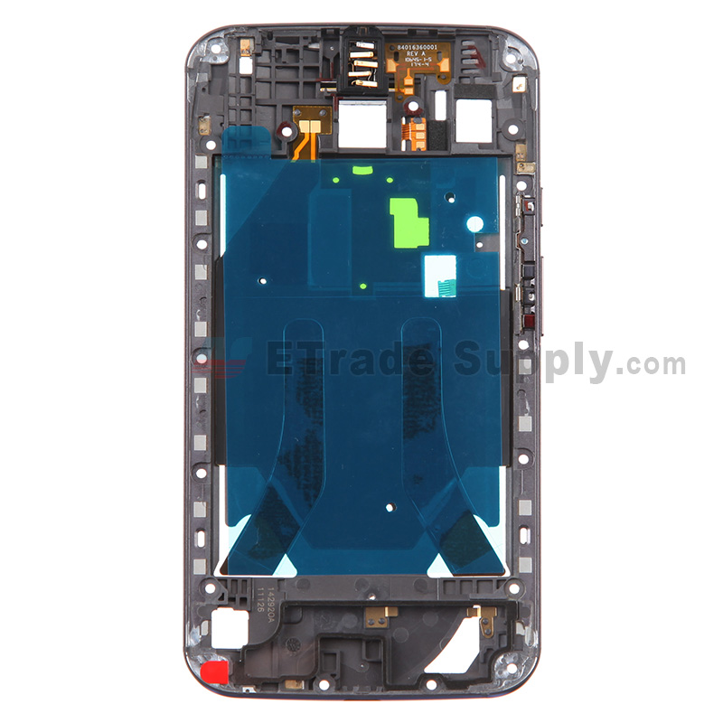 For Motorola Moto X (2nd Gen.) XT1096 Middle Plate Replacement - Black - Grade S+