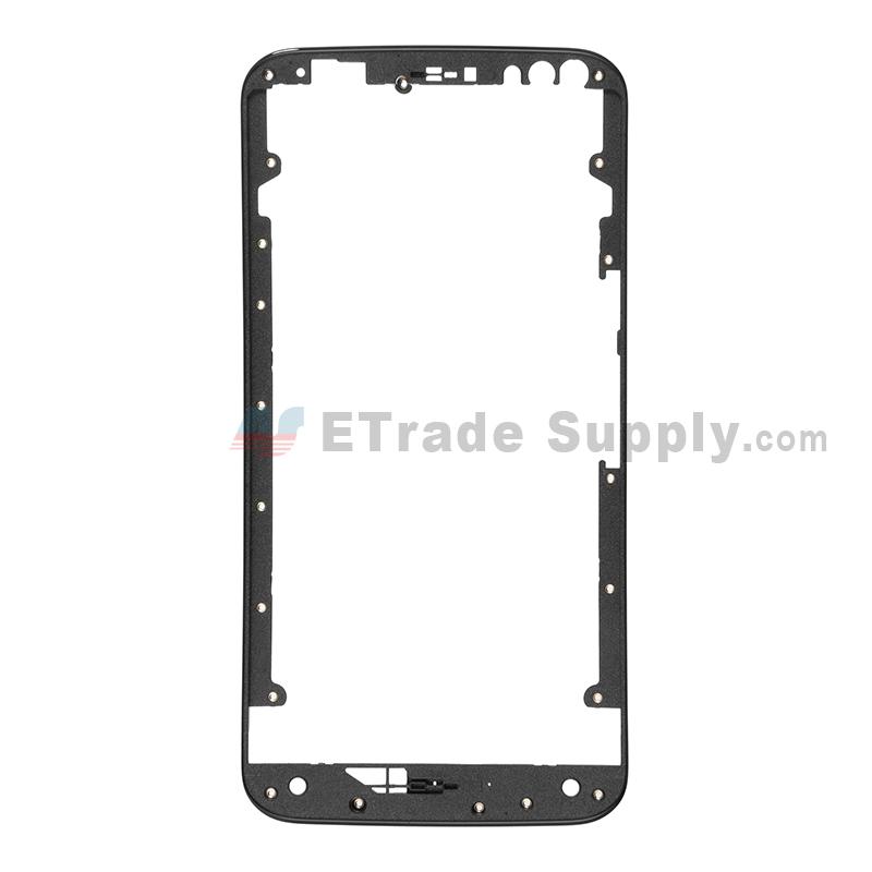 For Motorola Moto X Style XT1575, XT1572 Front Housing  Replacement - Black - Grade S+