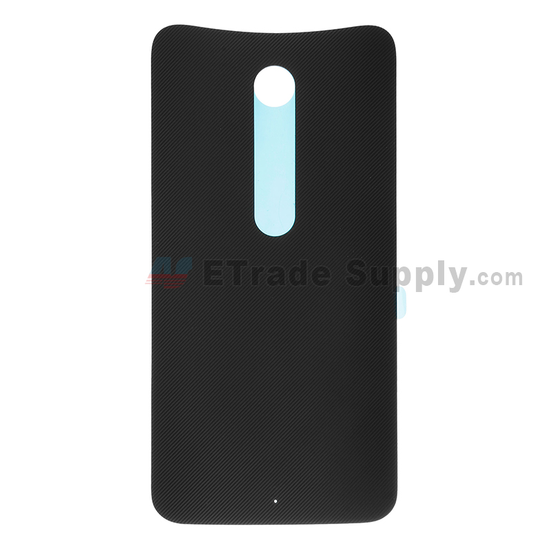 For Motorola Moto X Style XT1575, XT1572 Battery Door Replacement - Black - Without Logo - Grade S+