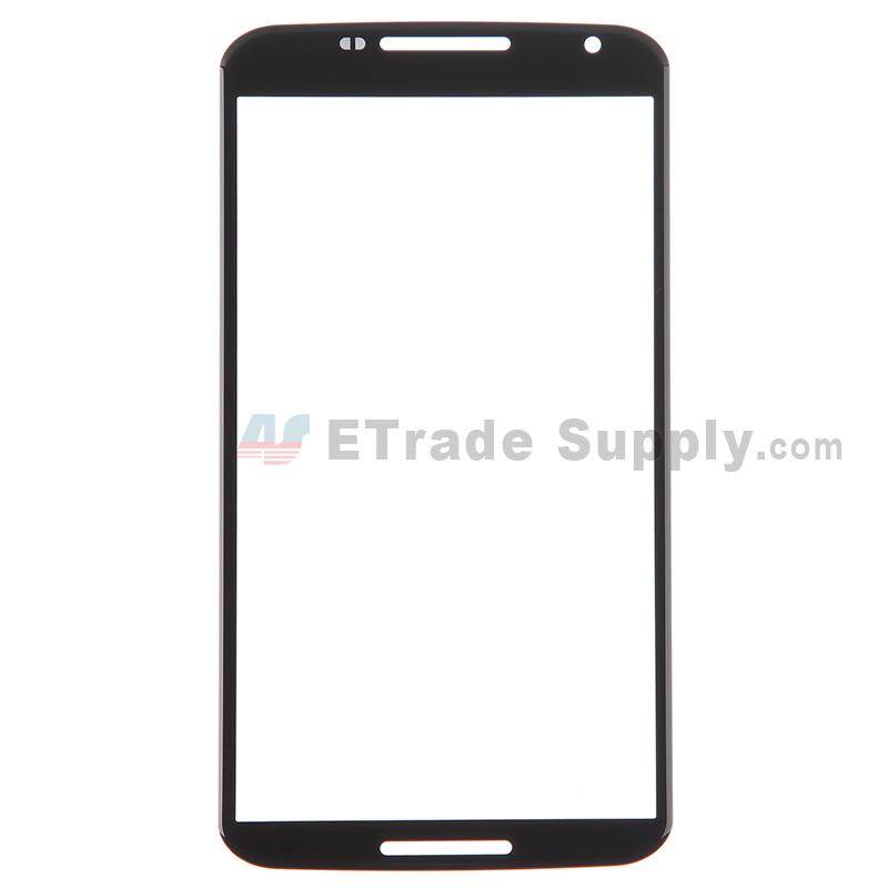 For Motorola Nexus 6 Glass Lens Replacement - Black - Without Logo - Grade R