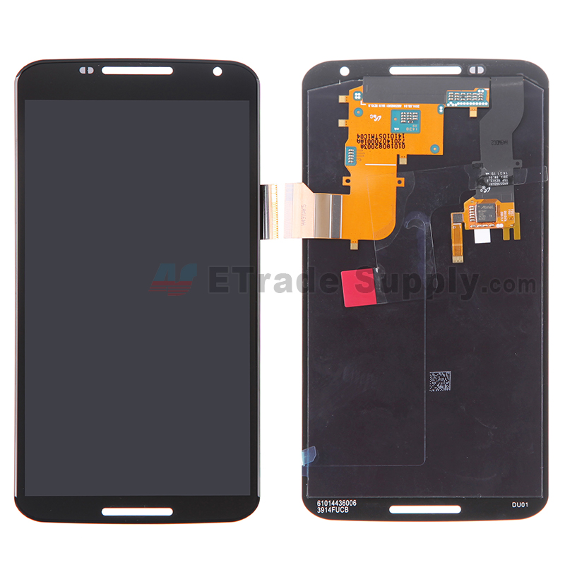 For Motorola Nexus 6 LCD Screen and Digitizer Assembly Replacement - Black - Grade S+