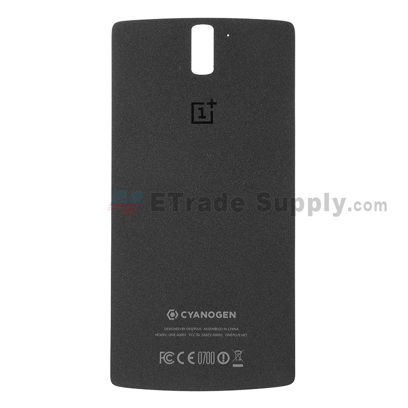 For OnePlus One Battery Door Replacement - Sandstone Black - Grade S+