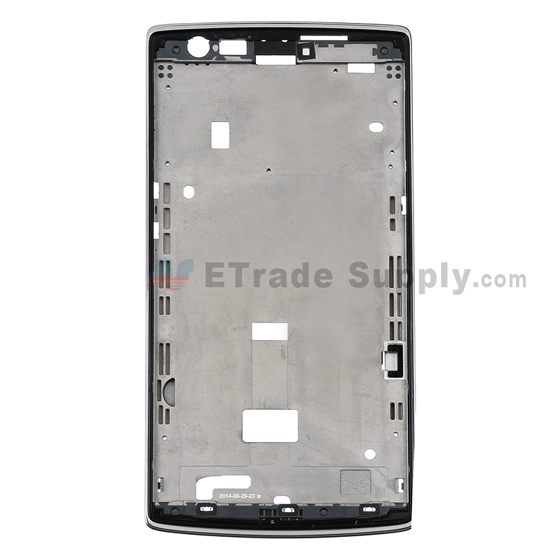 For OnePlus One Front Housing Replacement - Silver - Grade S+