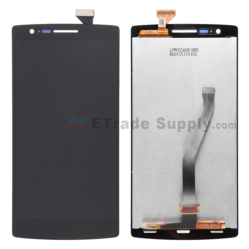 For OnePlus One LCD Screen and Digitizer Assembly Replacement - Black - Without Any Logo - Grade S