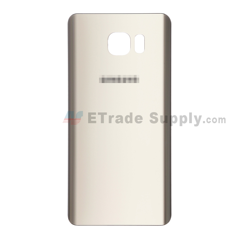 For Samsung Galaxy Note 5 Series Battery Door Replacement - Gold - With Logo - Grade S+