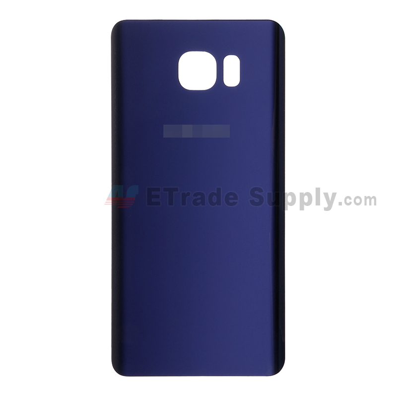For Samsung Galaxy Note 5 Series Battery Door  Replacement - Sapphire - With Logo - Grade S+