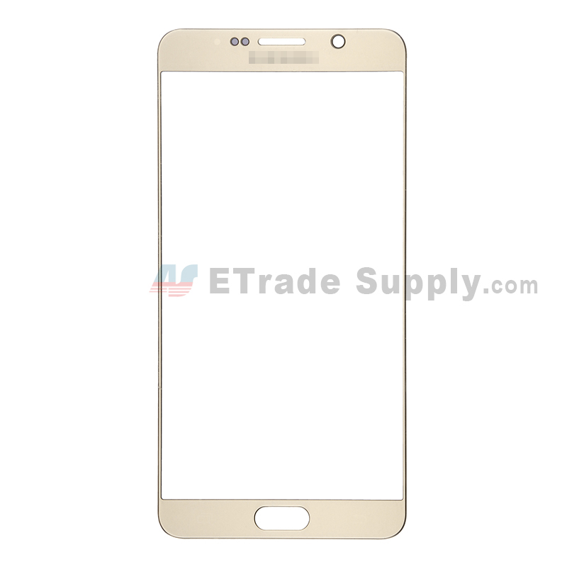 For Samsung Galaxy Note 5 Series Glass Lens Replacement - Gold - With Logo - Grade S+