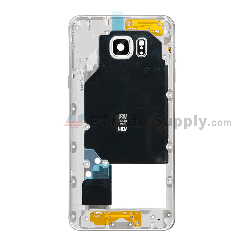 For Samsung Galaxy Note 5 SM-N920V/N920P/N920H/N920F Rear Housing Replacement - White - Grade S+