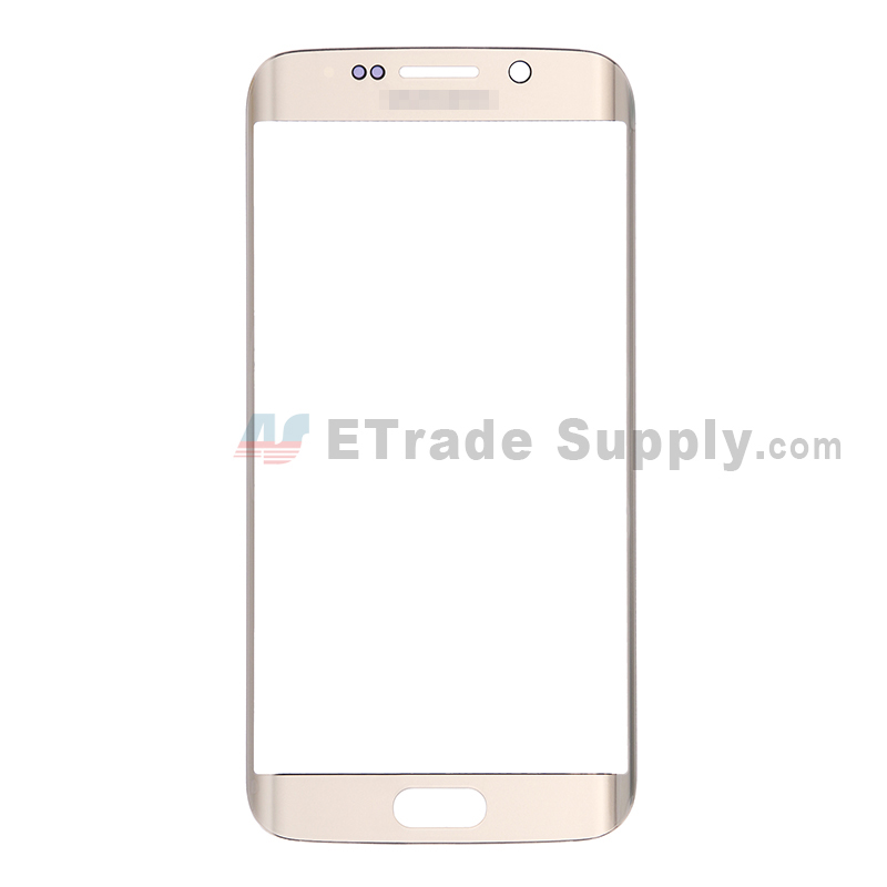 For Samsung Galaxy S6 Edge Samsung-G925V/G925P/G925R4/G925T/G925W8/G925I/G925F/G925A Glass Lens Replacement - Gold - With Logo - Grade S+