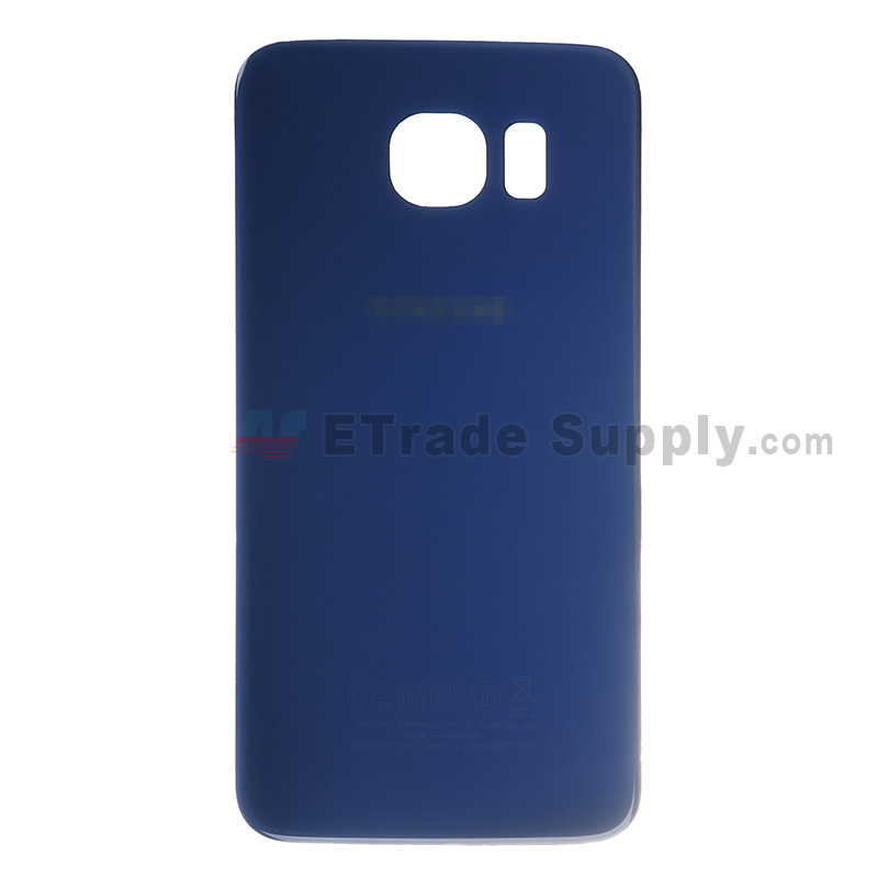 For Samsung Galaxy S6 SM-G920 Battery Door Replacement - Sapphire - With Logo - Grade S+