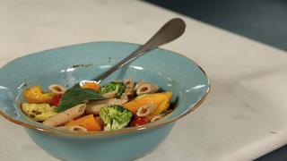 Summer Veggie and Pesto Pasta Salad