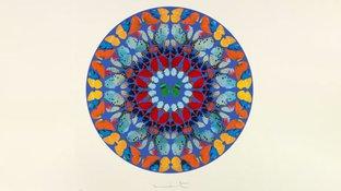 Abstract butterfly kaleidoscope art