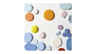 Abstract color circles art