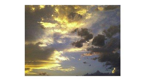 Cloudy morning sky