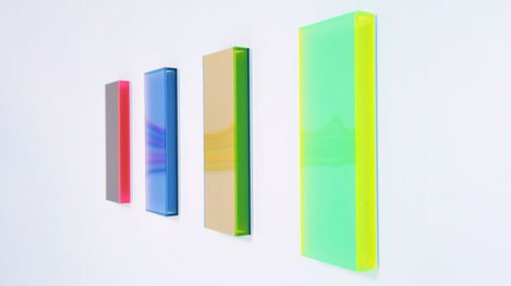 Four vertical glossy color bars art