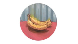 Oil painting of bananas