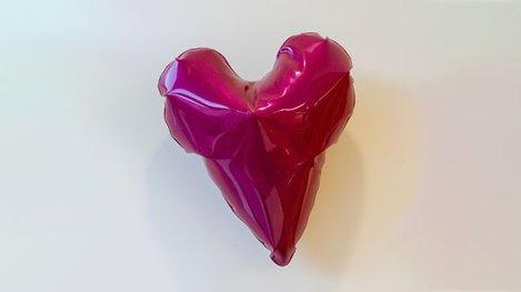 Five metal balloons art