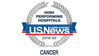 2019 US News high performing cancer badge 320x180