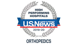 2019 US News high performing orthopedics badge 320x180