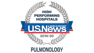 US News High Performing Pulmonology 2019-20