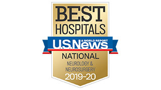 2019 US News national ranking neurology neurosurgery badge 320x180