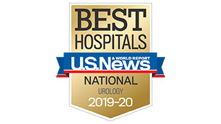 2019 US News national ranking urology badge 320x180