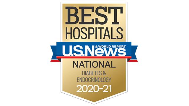 2020 USNWR best hospital diabetes endocrinology 320x180