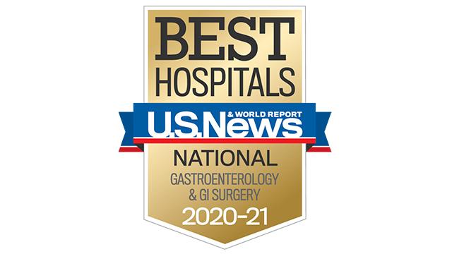 2020 USNWR best hospital gastroenterology & GI surgery 320x180