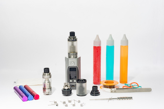 Different images of vaping options and tools