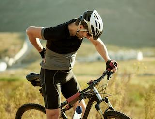 Back pain bike rider