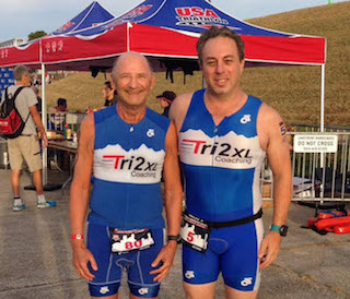 Triathlete Ken Lewis and Dave