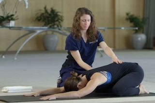 Child Pose childbirth training